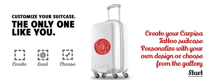 Customize your Carpisa suitcase!